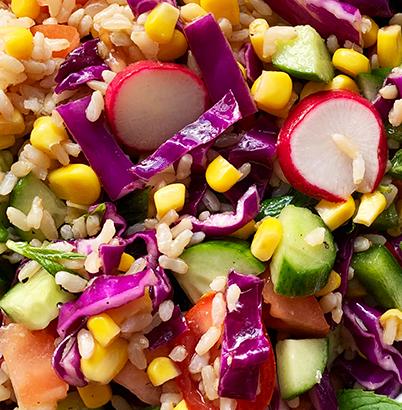 Brown Rice Salad Up Close
