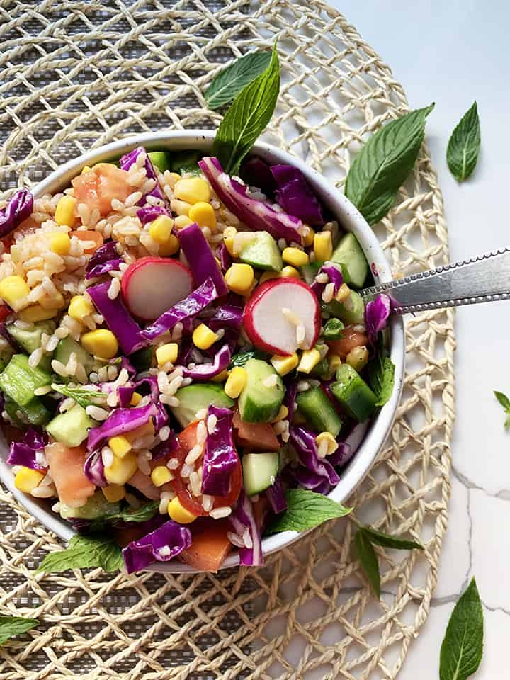 Very Colourful Brown Rice Salad