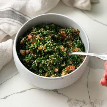 Quinoa Tabouli served in a bowl