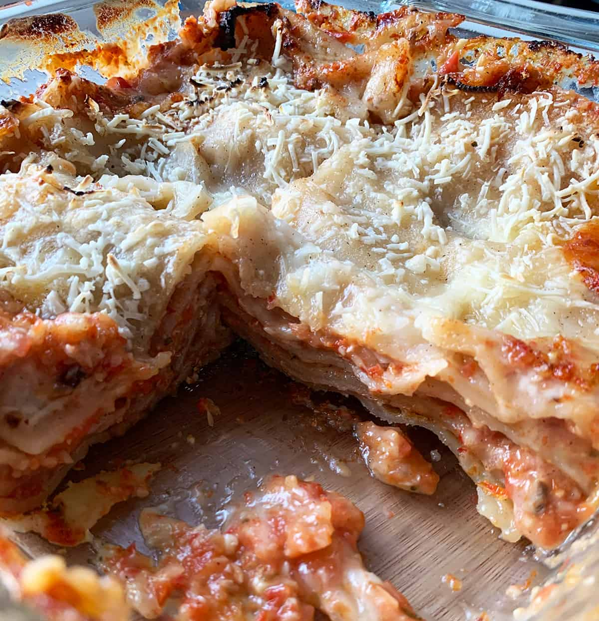 Vegan Lasagna Gluten Free Recipe upclose