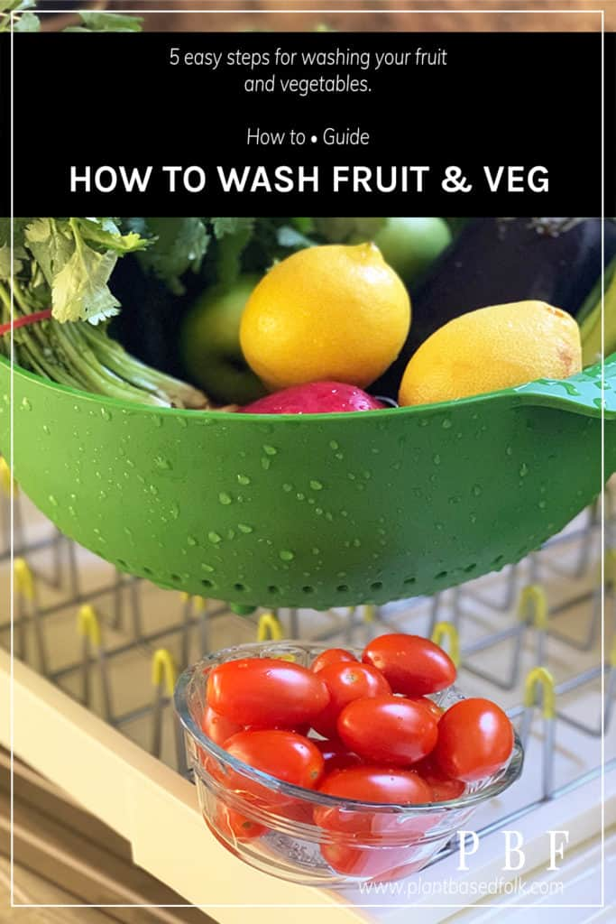 how to wash fruits & vegetables pinterest pin