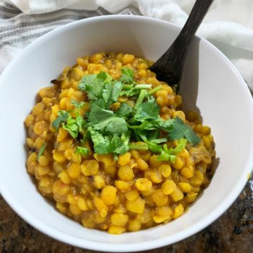 Yellow Split Pea Dal Recipe - Vegan - Plant Based Folk