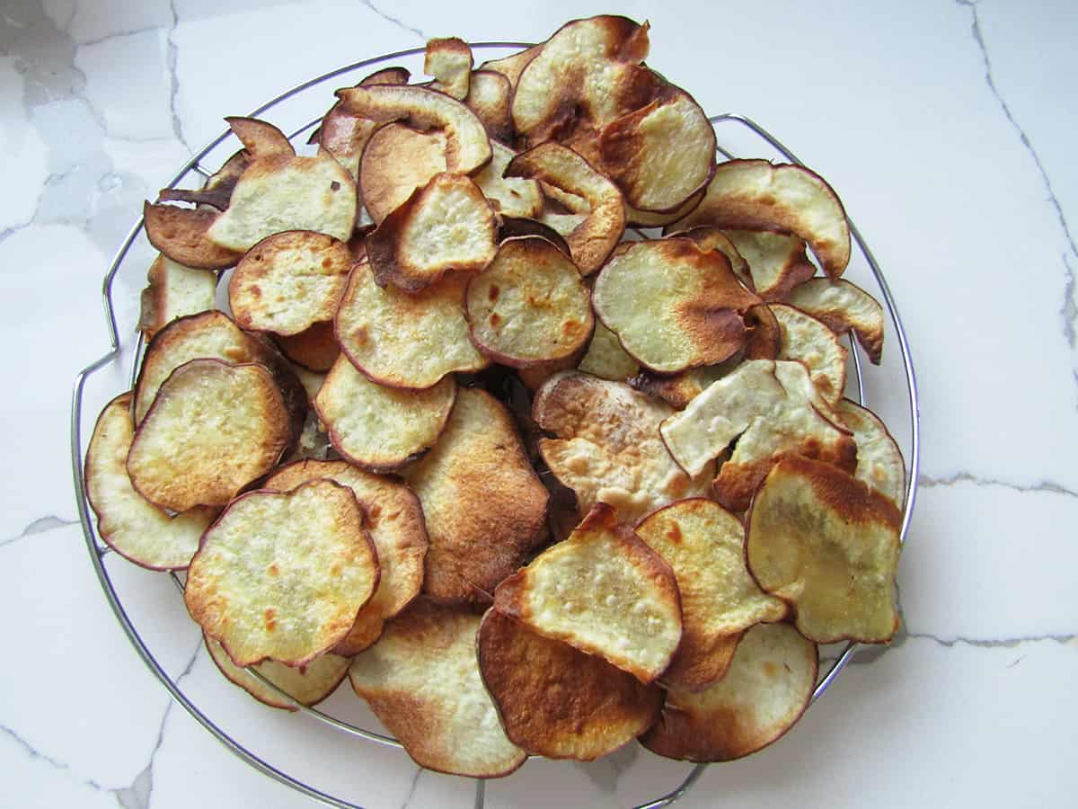 crispy home made sweet potato chips