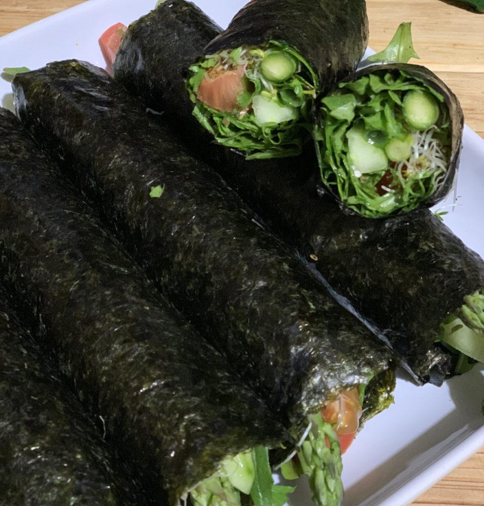raw nori rolls