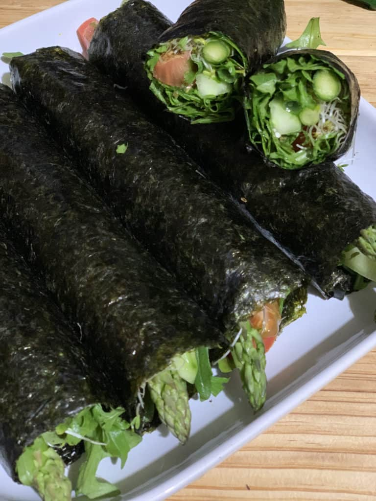 Medical medium advance 3:6:9 cleanse nori rolls for dinner