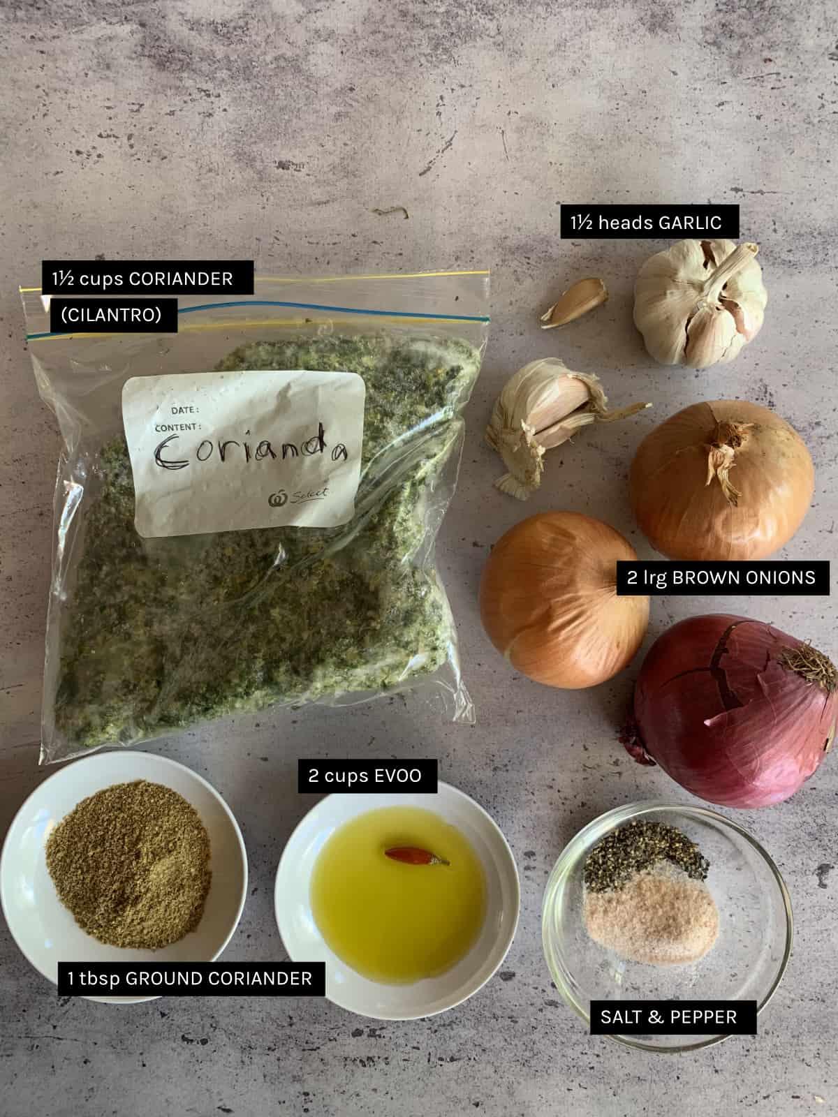 green broad beans ingrediens