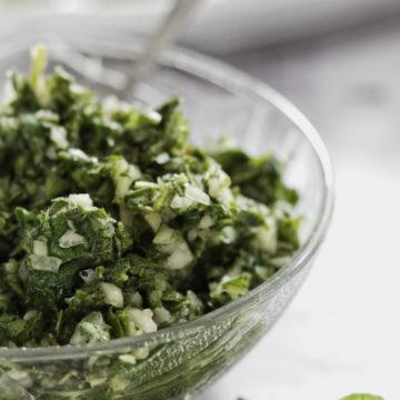 Lebanese oregano salad