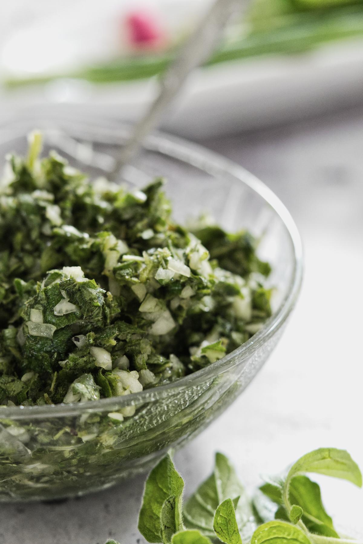 Oregano Salad in a bowl