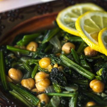 Lebanese Spinach Stew Sabanekh wa Riz