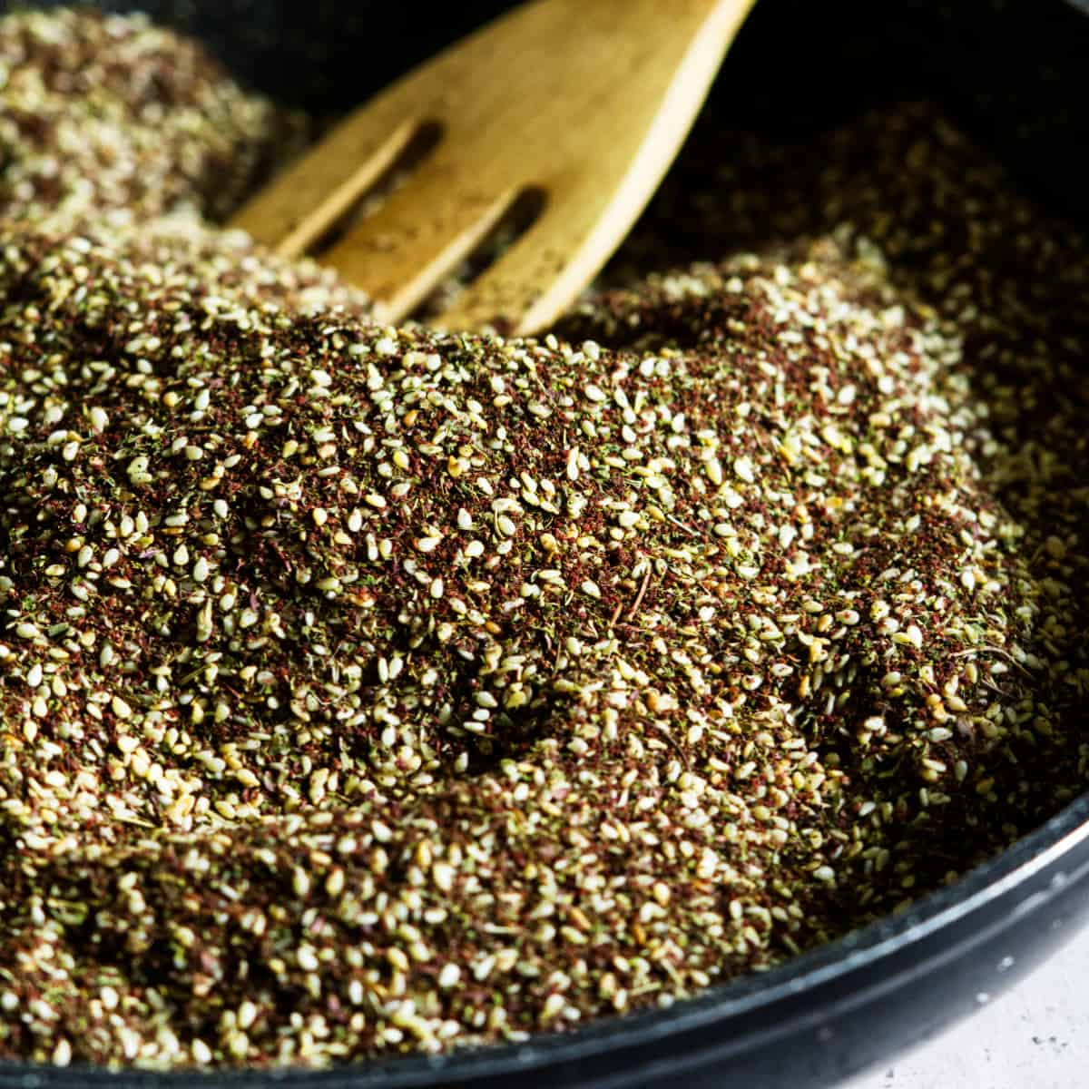 zaatar seasoning in a pan