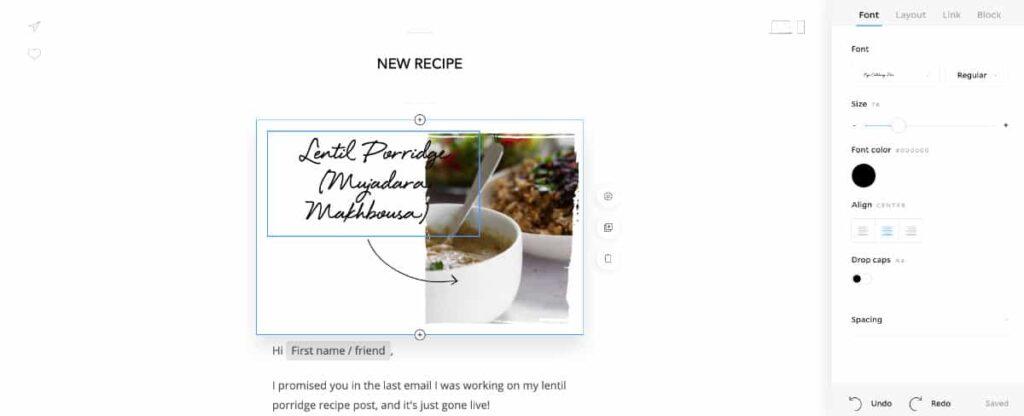 Flodesk email design