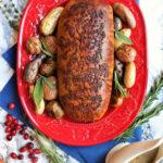 Stuffed seitan holiday roast