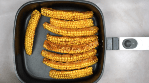 corn cobs in air fryer pan