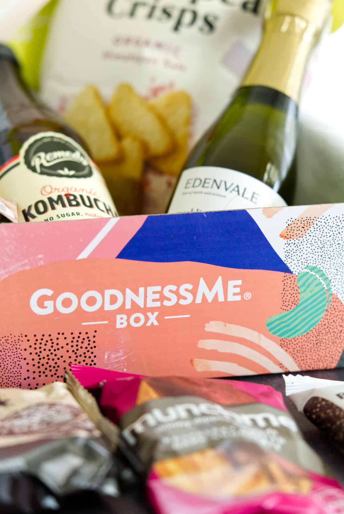 GoodnessMe box open with content upclose