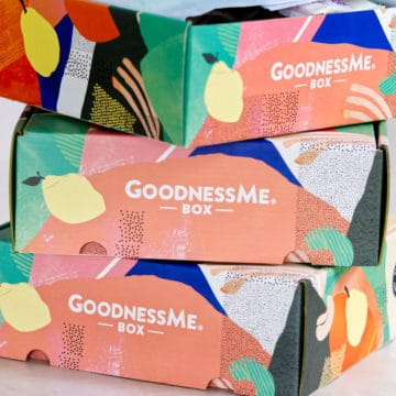3 x GoodnessMe boxes stacked