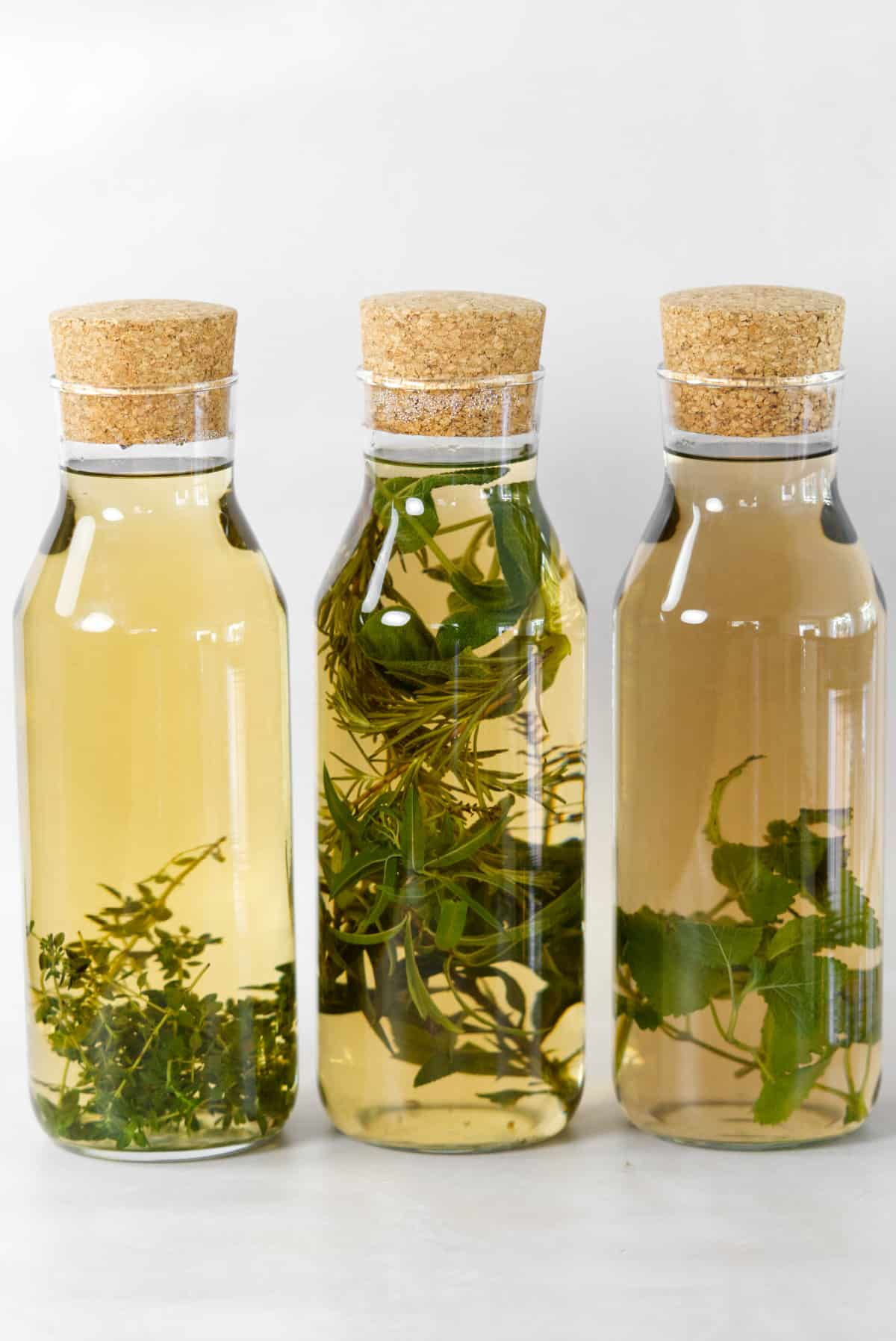 overnight herbal tea in jugs