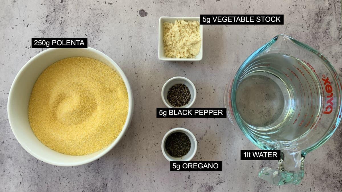 flat lay of ingredients