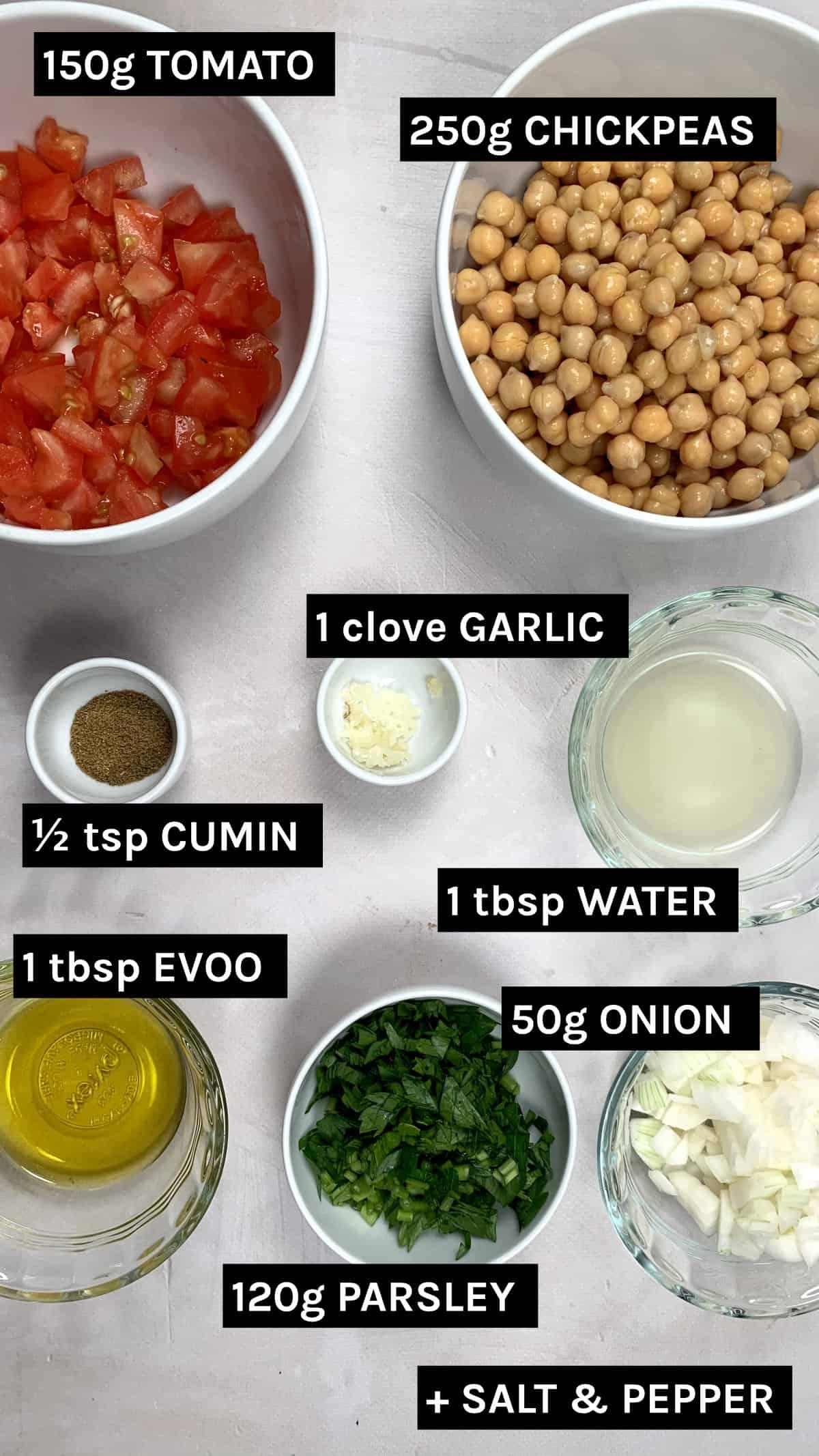 balilah ingredients layed out
