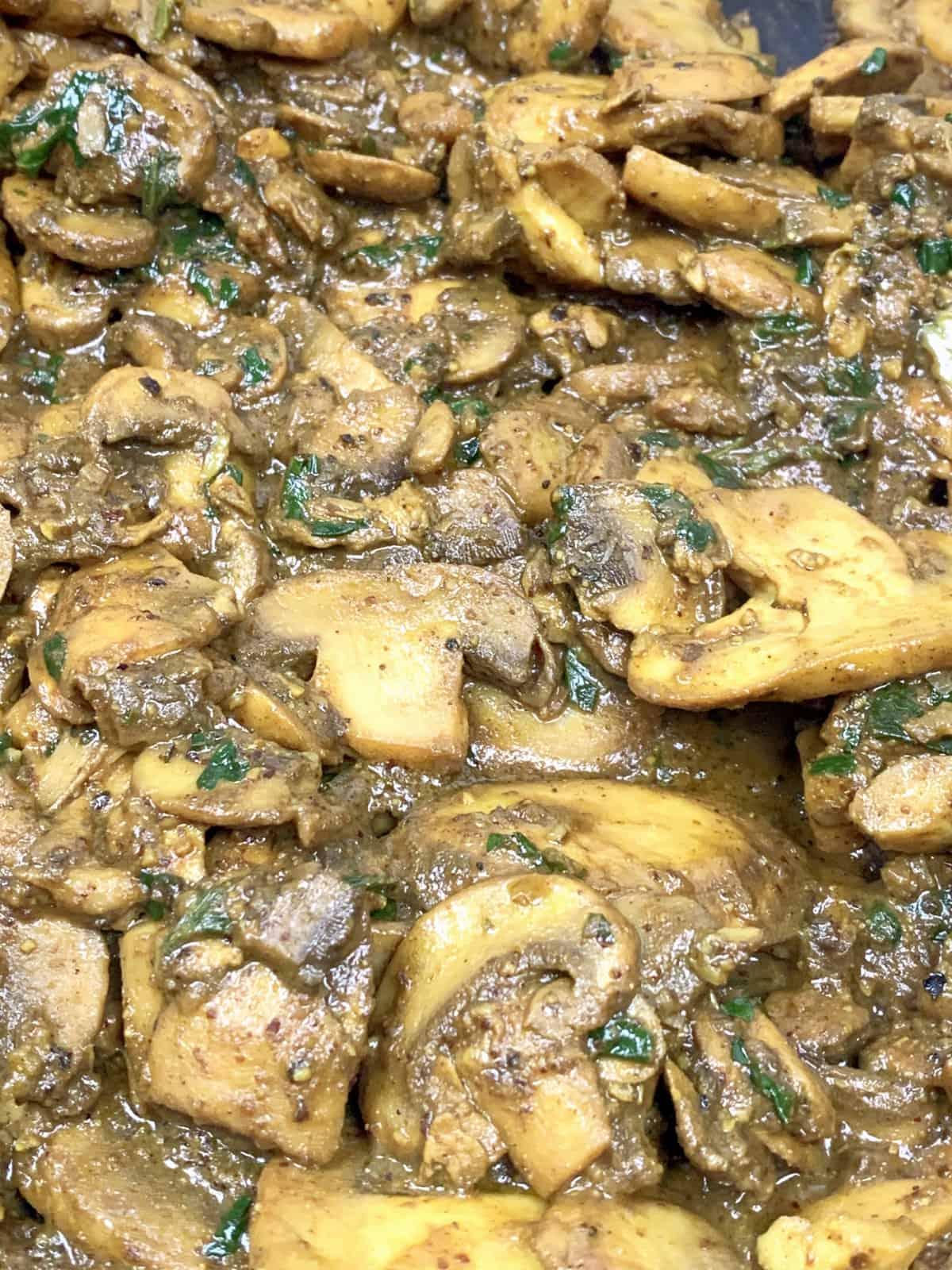 mushroom shawarma up close