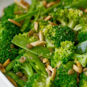 Vegan Broccoli salad up closed