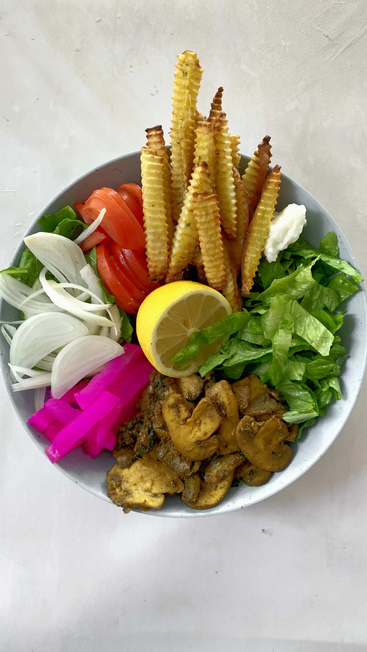 Vegan Shawarma in a plate