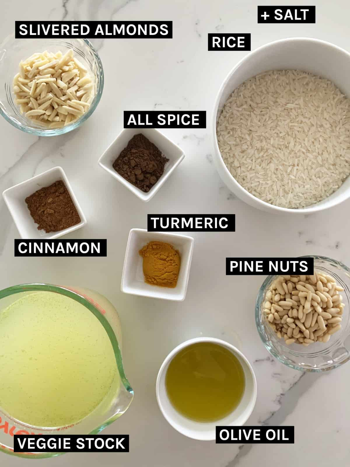 Maklouba ingredients