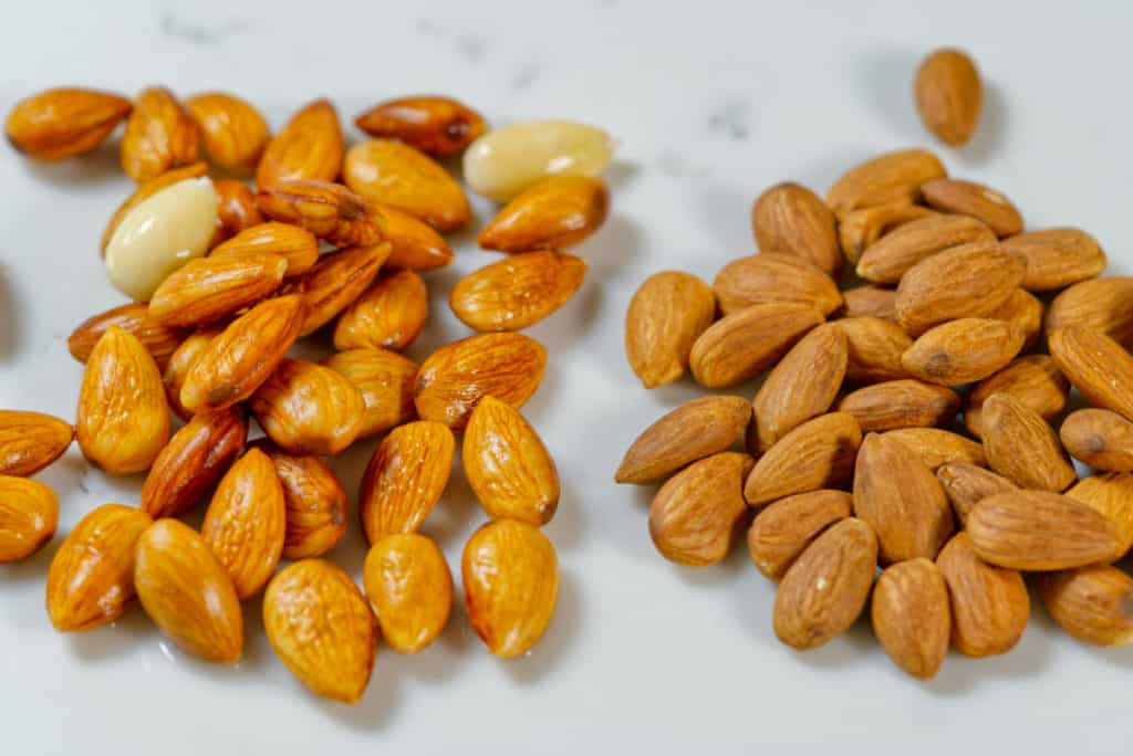 activated almonds vs dry almonds