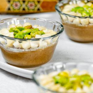 moghli vegan rice pudding in 3 bowls