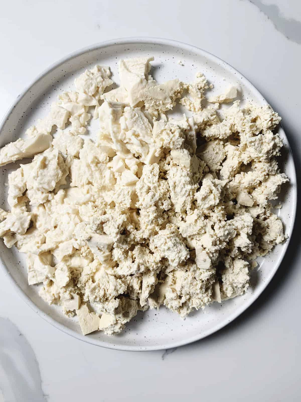 crumbled classic tofu with firm tofu