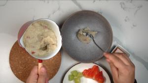 step 2 for making quinoa porridge