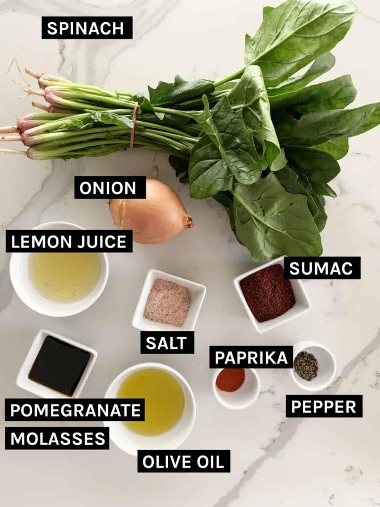 Sabanekh bi Fatayer ingredients