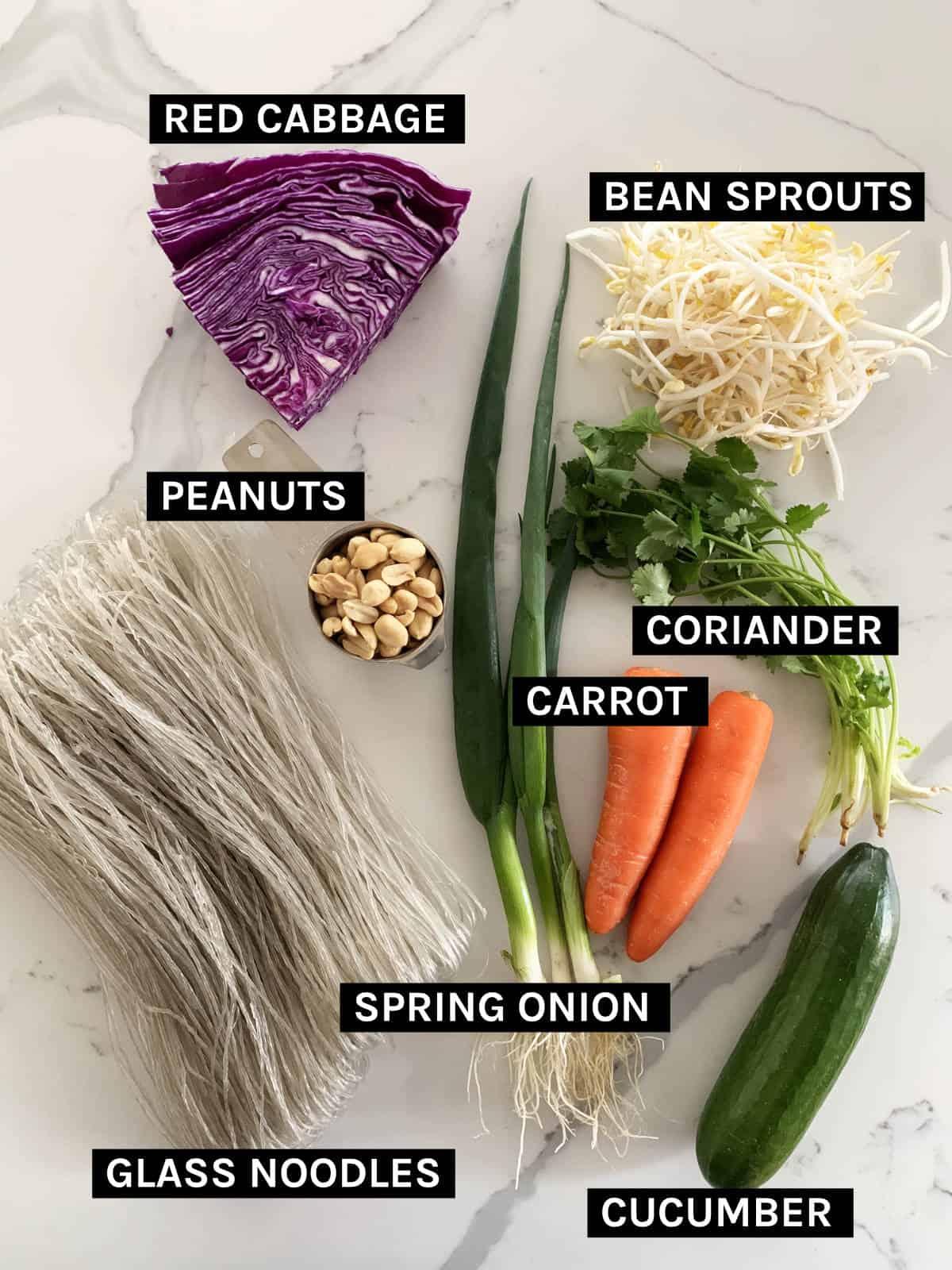 vegan noodle salad ingredients