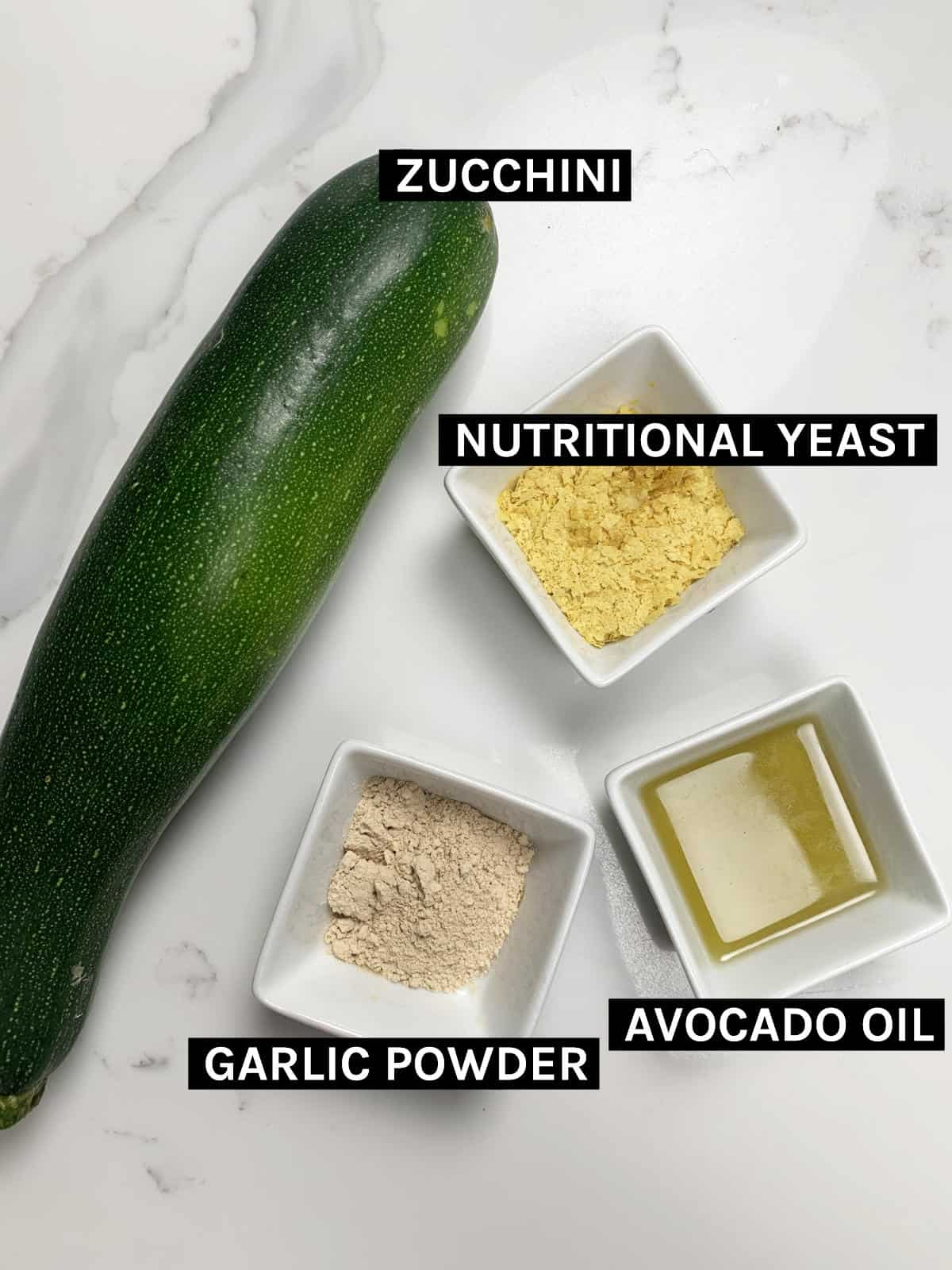 sweet zucchini chips ingredients laid out