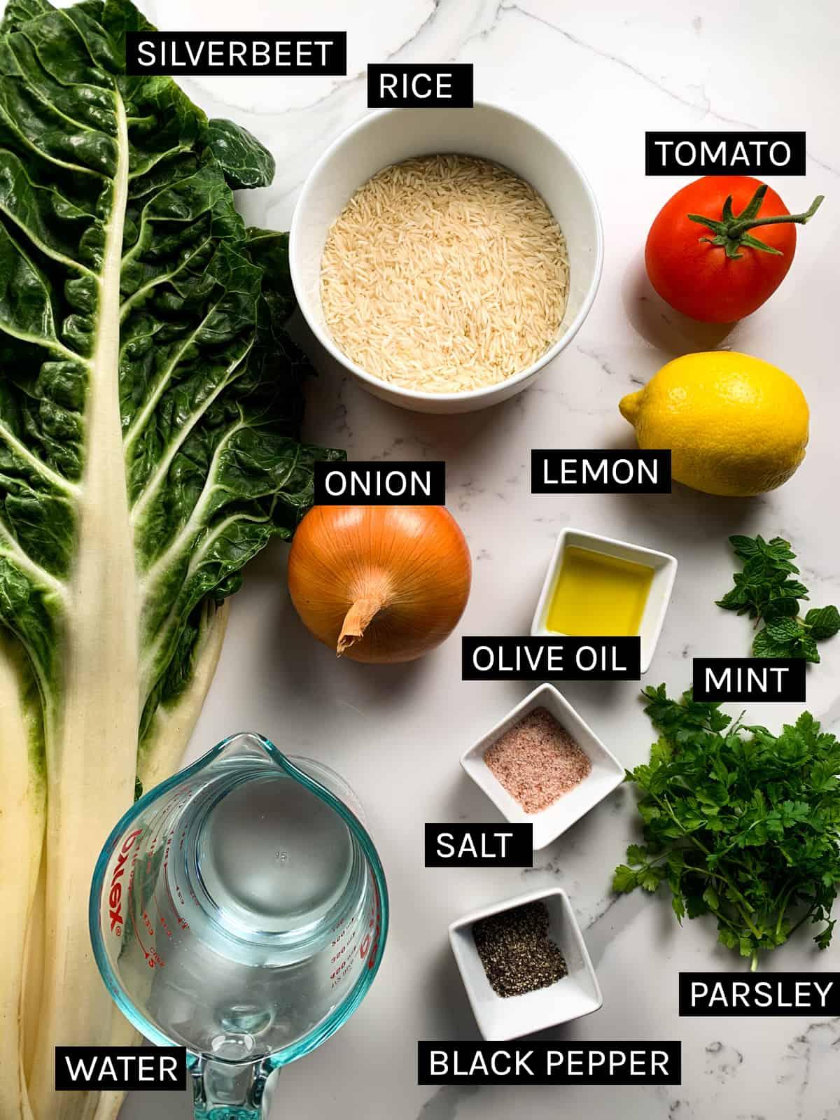 mahshi selek ingredients laid flat
