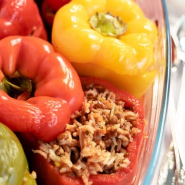 stuffed peppers up close