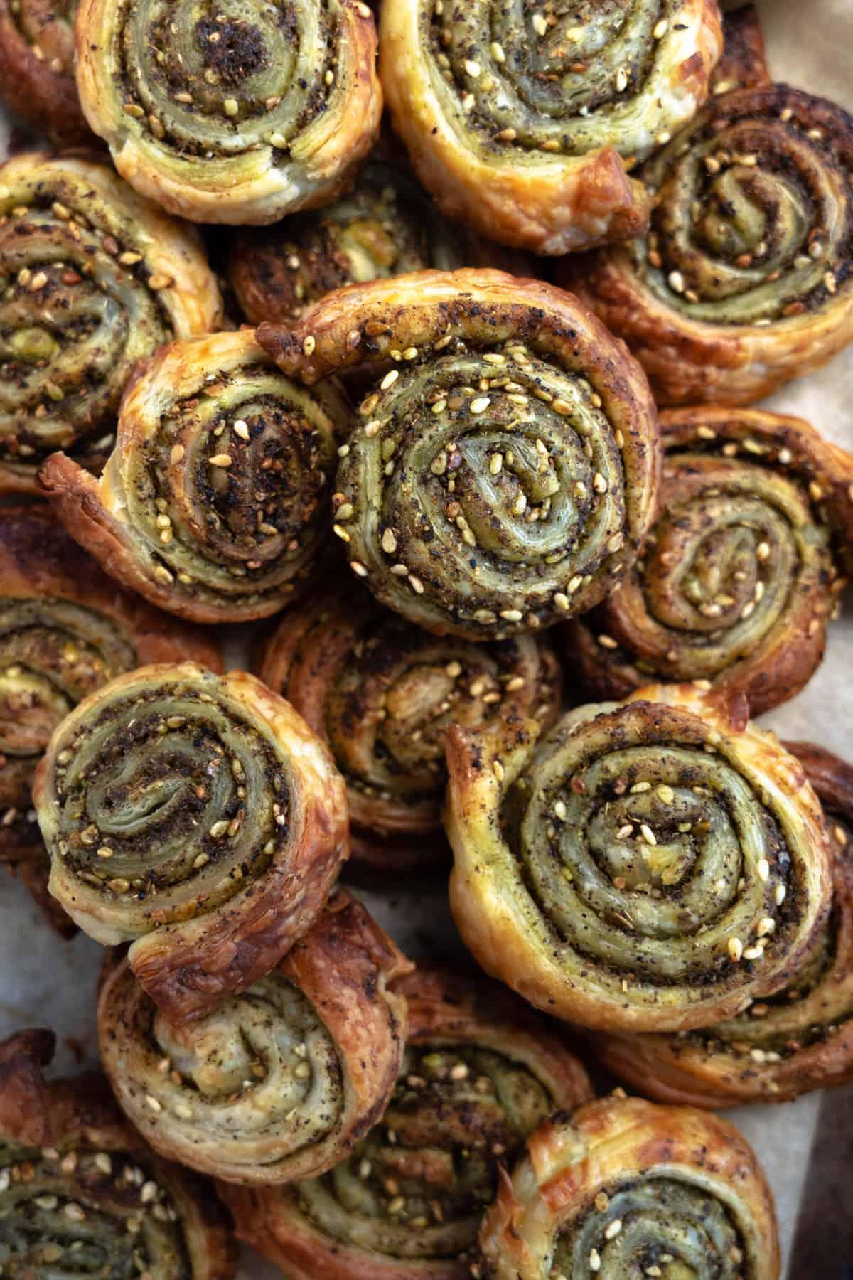 zaatar pinwheels up close