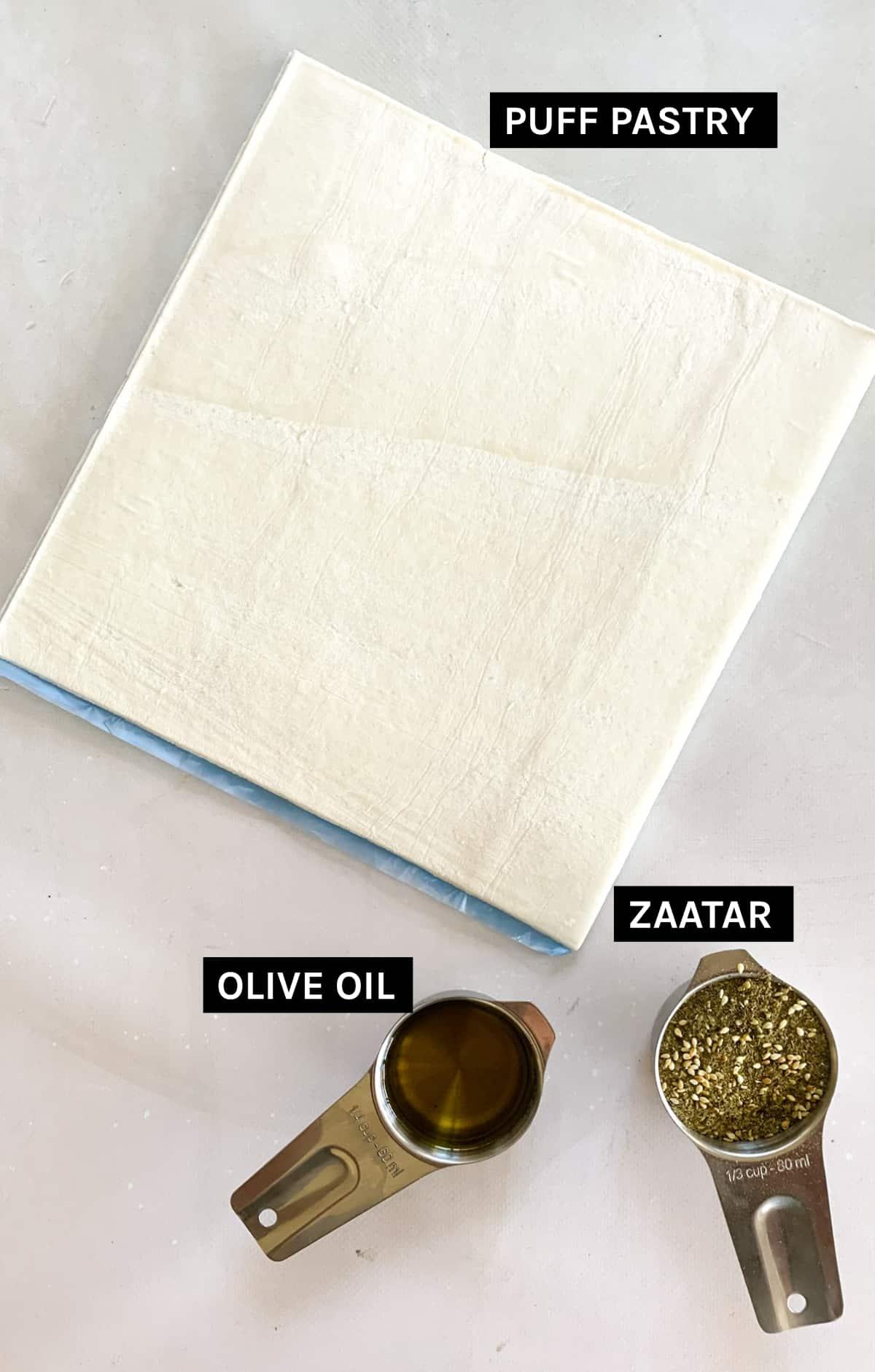 Zaatar pinwheels ingredients